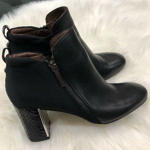 Donald J Pliner Booties Black Leather + Textile 7
